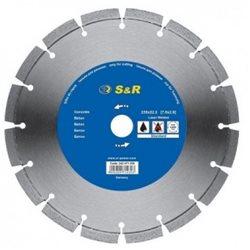 Диск отрезной сегментный S&R по бетону Standart 115