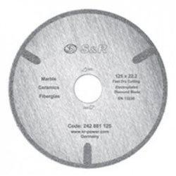 Диск отрезной S&R по мрамору Corona 125