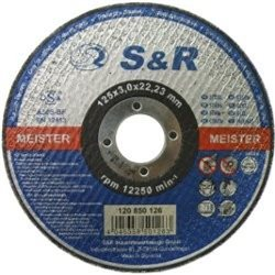 Круг отрезной по металлу S&R Meister типа A 30 S-BF 125x3