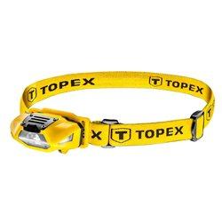 Фонарь TOPEX налобный,  1Вт, 70 люменов, 4 режима, 1xAA, до 12 ч белый свет, до 20 ч красный свет