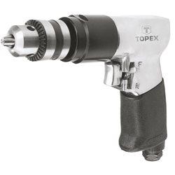 Дрель TOPEX пневматическая  10 мм, 1800 об.-1, 6-8 бар, 115 л/мин., обороты право/лево, вес 1.4 кг, CE