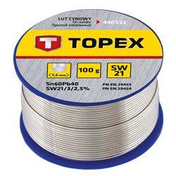 Припой TOPEX оловянный 60% Sn, проволока 1.0 мм, 100 г