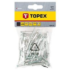 Заклепки TOPEX алюминиевые 3.2 мм x 10 мм, 50 шт. * 1 уп.