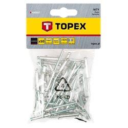 Заклепки TOPEX алюминиевые 4.8 мм x 23 мм, 50 шт. * 1 уп.