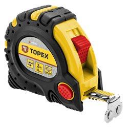 Рулетка TOPEX, стальная лента 2 м x 16 мм, магнит