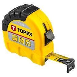 Рулетка TOPEX, стальная лента 5 м x 19 мм