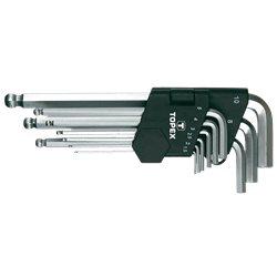 Ключи TOPEX шестигранные HEX 1.5-10 мм, набор 9 шт.