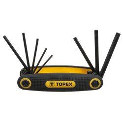 Ключи TOPEX шестигранные Torx T9-T40, набор 8 шт.