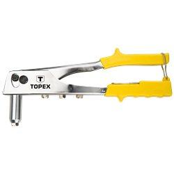 Заклепочник TOPEX для заклепок алюминиевых 2.4, 3.2, 4.0, 4.8 мм