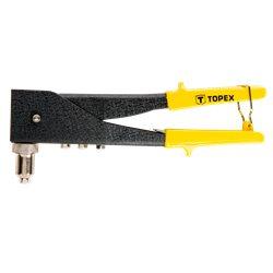Заклепочник TOPEX для заклепок алюминиевых 2.4, 3.2, 4.0, 4.8 мм, две позиции