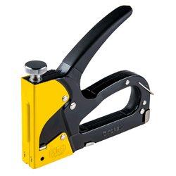 Степлер TOPEX, 6-14 мм, для скоб типа G, L, E, регулировка силы забивания, резиновая ручка