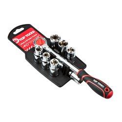 """Набор сменных торцевых головок Top Tools 38D143, 1/2"""", 8 шт."""
