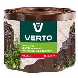 Лента VERTO газонная 10 cm x 9 m, коричневая