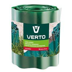 Лента VERTO газонная 15 cm x 9 m, зеленая