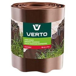 Лента VERTO газонная 15 cm x 9 m, коричневая