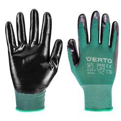 """Перчатки садовые Verto, нитриловое покрытие, размер 7 """""""