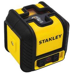 """Уровень Stanley лазерный кросслайнер """"Cubix"""", красный, дальность 12м, ошибка +/- 0,6 мм/10м"""