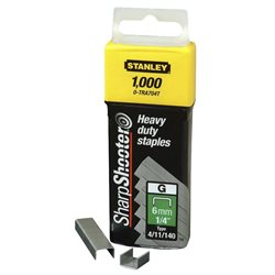 Скобы Stanley тип G  6мм (Степлер Stanley 6-TR250, 6-TR151Y) 1000шт