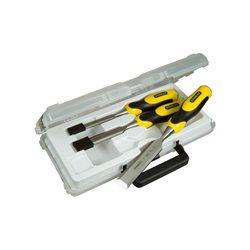 Набор стамесок Stanley  3 ед. усиленых (12, 18, 25мм, пластиковый кейс)